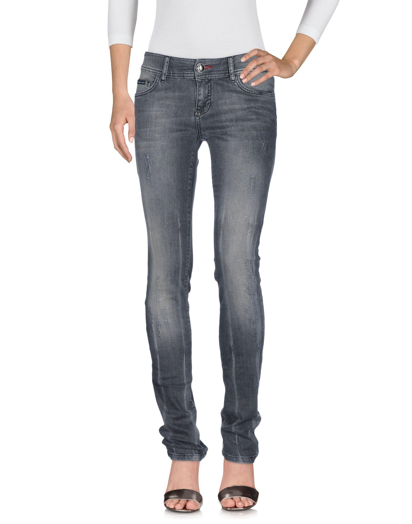 PHILIPP PLEIN Damen Jeanshose Farbe Blei Größe 7