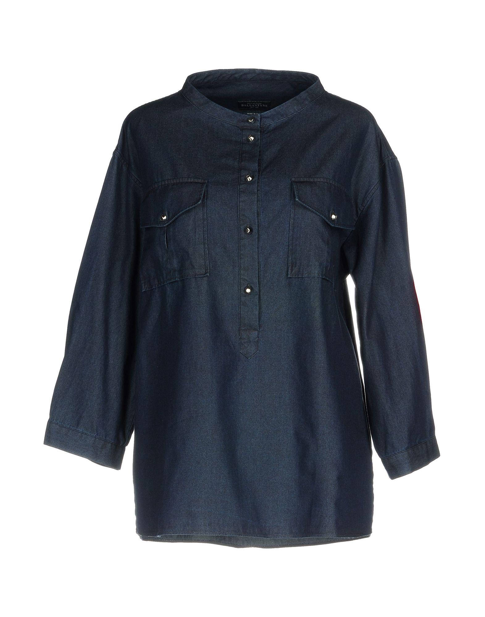 BALLANTYNE Джинсовая рубашка недорго, оригинальная цена