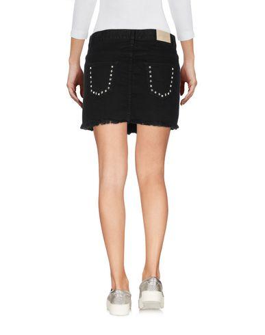 Фото 2 - Джинсовая юбка от GAëLLE Paris черного цвета