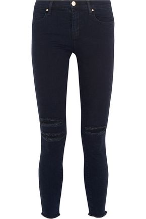 J BRAND Photo Ready distressed mid-rise skinny jeans