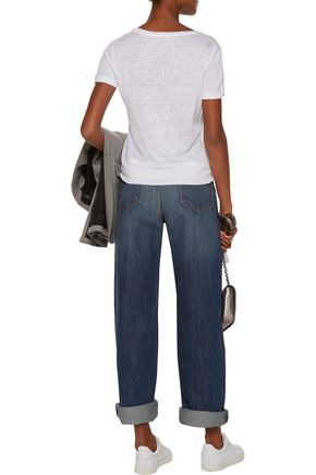 CURRENT/ELLIOTT Faded boyfriend jeans