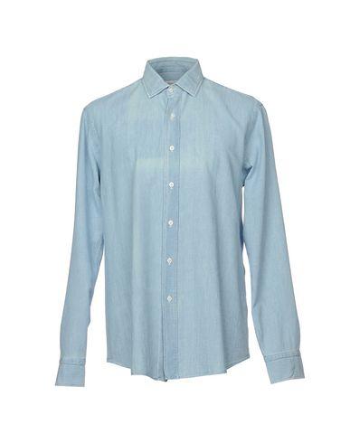 Фото - Джинсовая рубашка от SALVATORE PICCOLO синего цвета