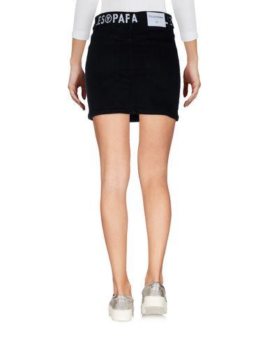 Фото 2 - Джинсовая юбка от FAP  FILLES A PAPA черного цвета
