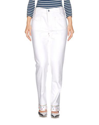 Купить Джинсовые брюки от THE SEAFARER белого цвета
