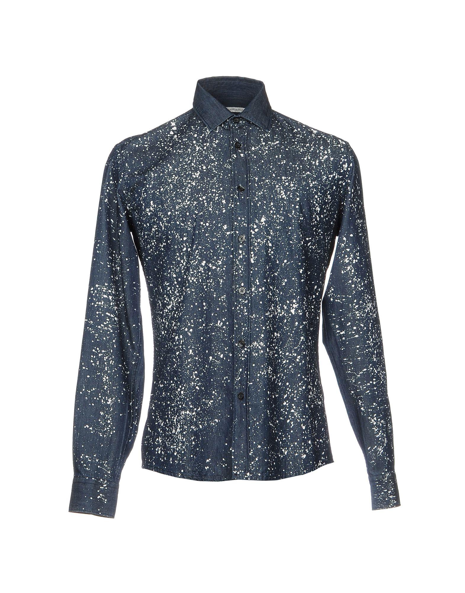 где купить DANIELE ALESSANDRINI Джинсовая рубашка по лучшей цене