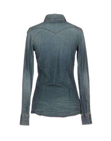 Фото 2 - Джинсовая рубашка от AGLINI синего цвета