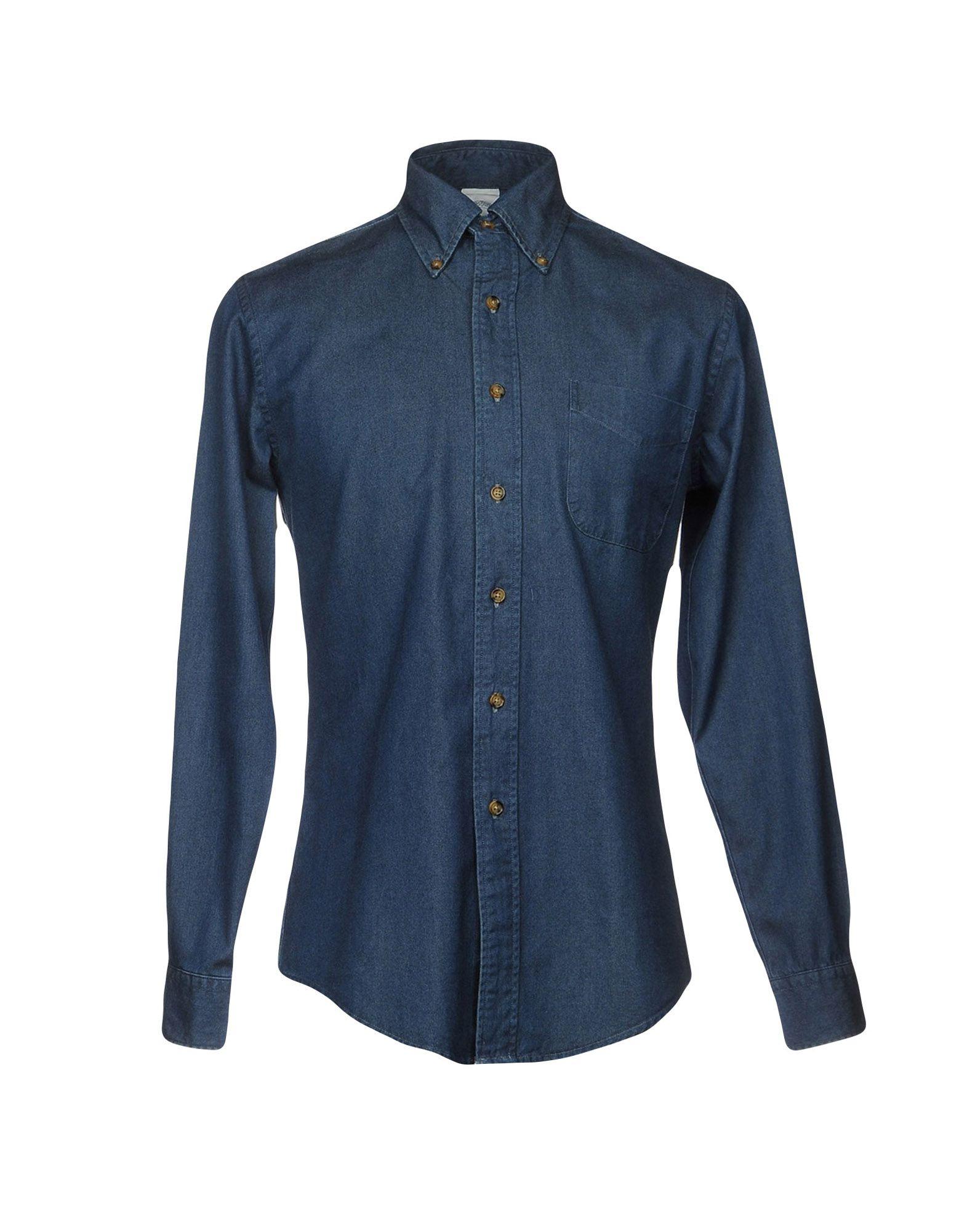 где купить BROOKS BROTHERS Джинсовая рубашка по лучшей цене