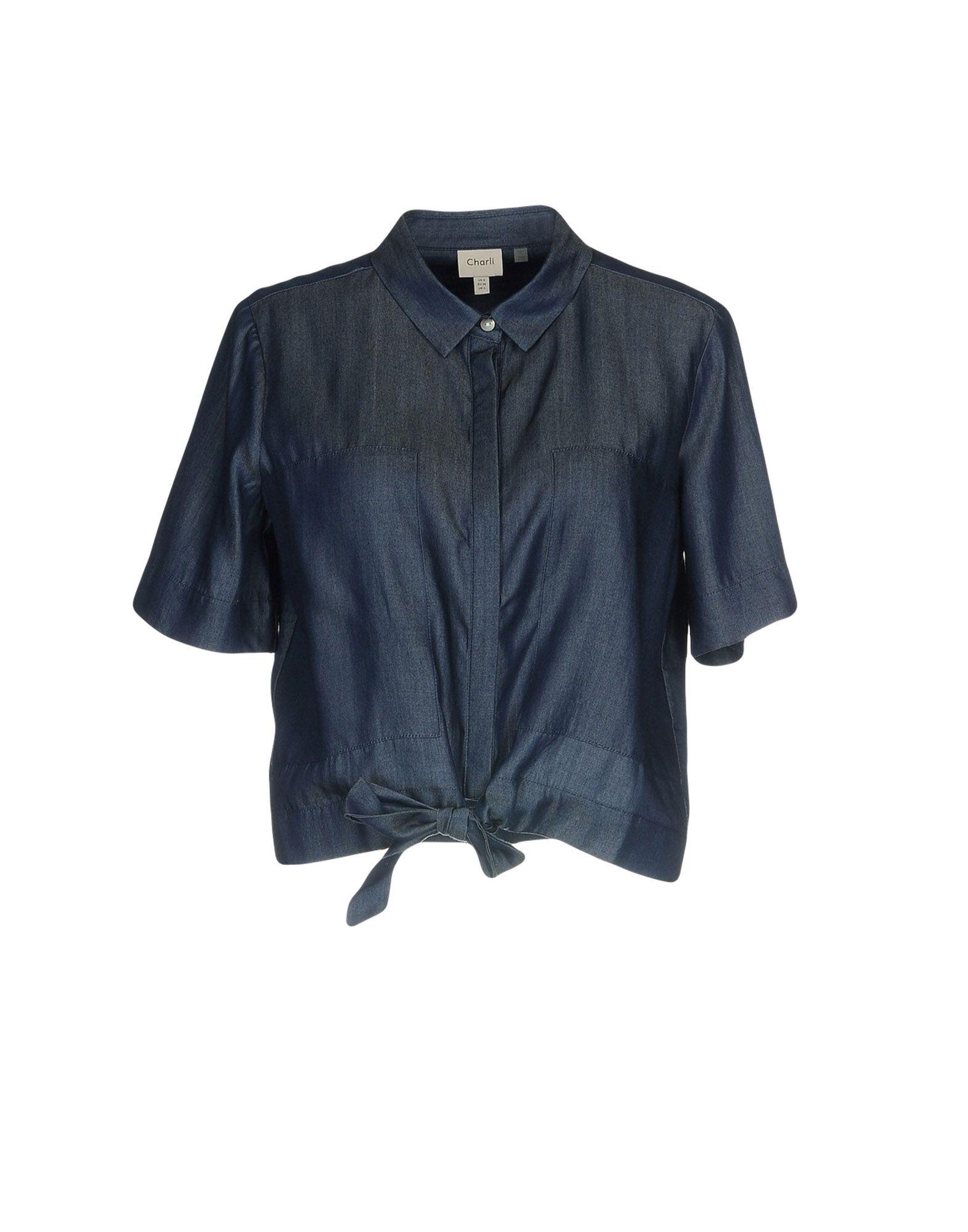 CHARLI Джинсовая рубашка недорго, оригинальная цена