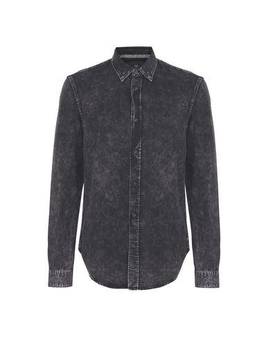 Купить Джинсовая рубашка черного цвета
