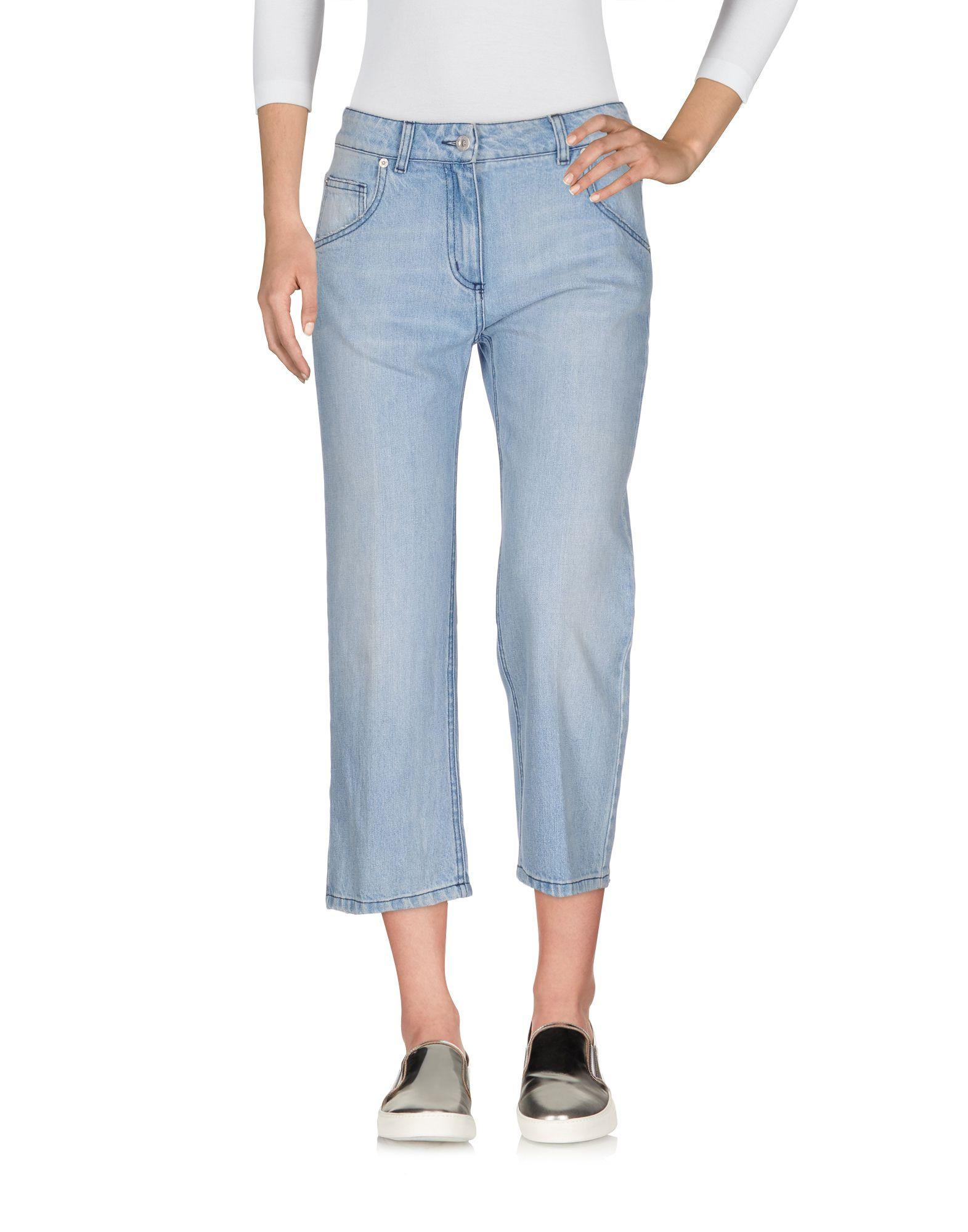 BLUMARINE Джинсовые брюки-капри start up джинсовые брюки капри