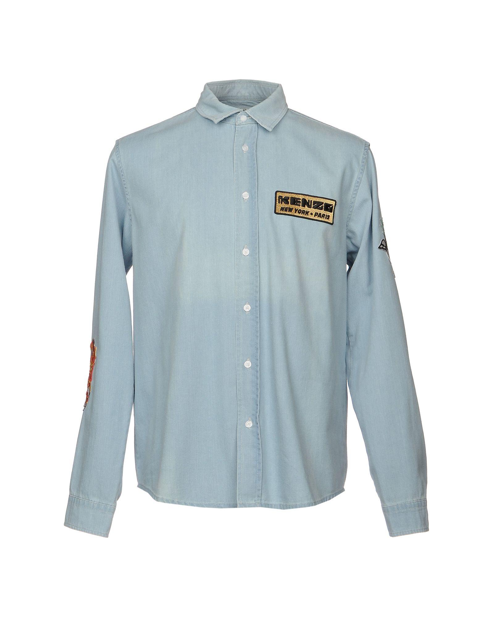 KENZO Джинсовая рубашка рубашка джинсовая 3 12 лет