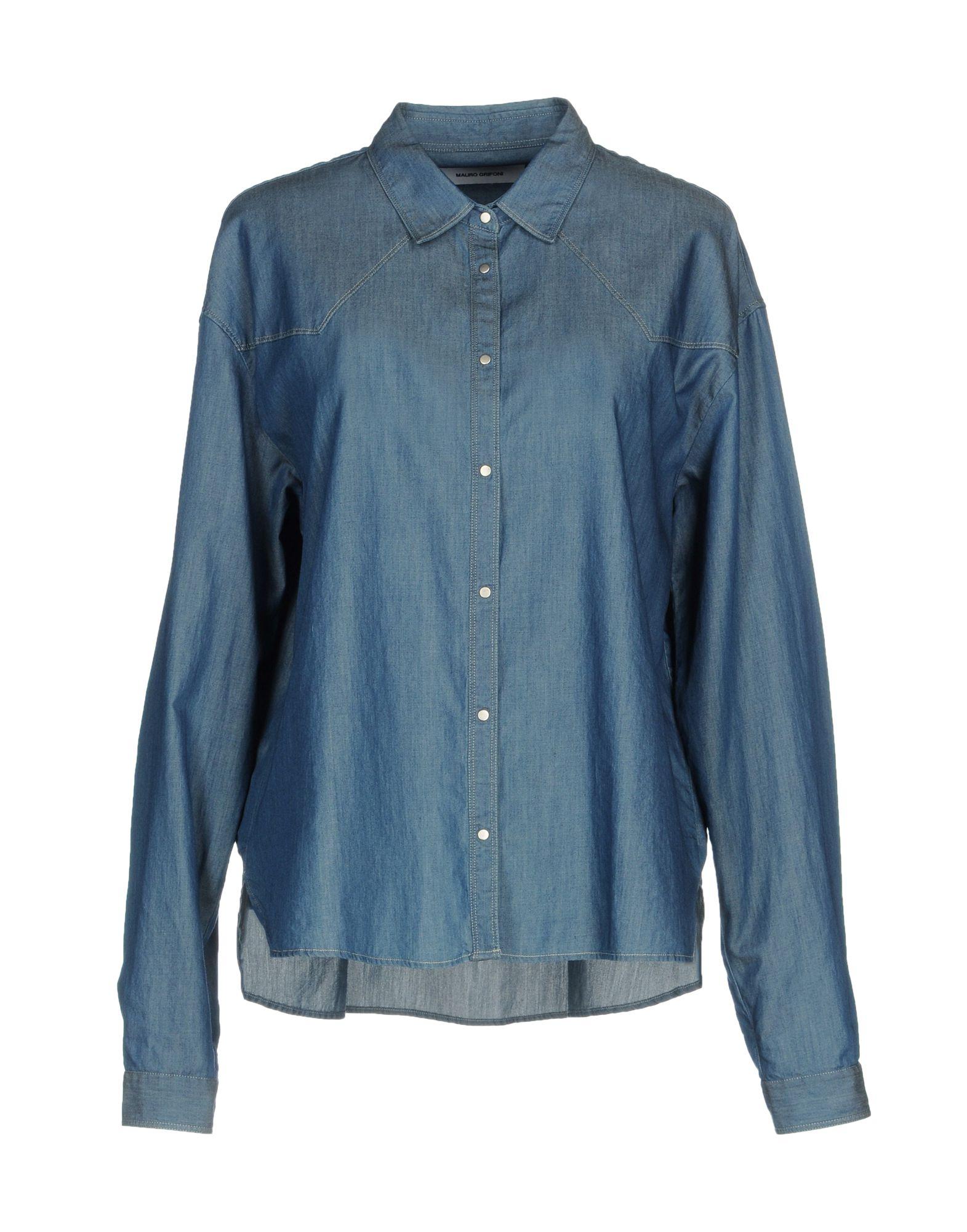 MAURO GRIFONI Джинсовая рубашка цена 2017