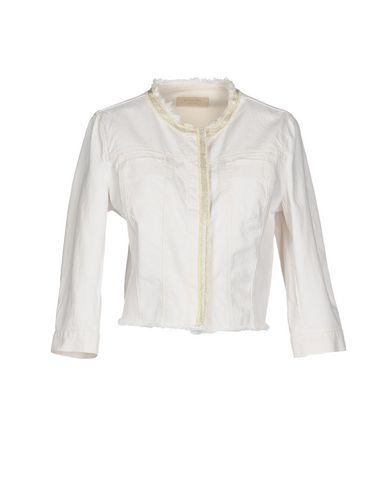 Bianco donna KAOS JEANS Capospalla jeans donna