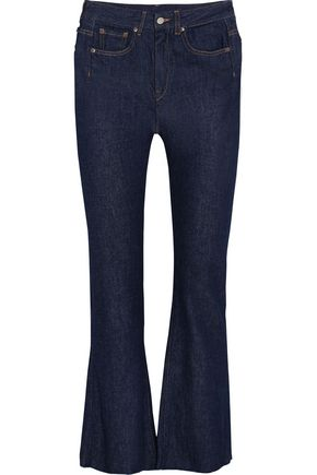 MM6 MAISON MARGIELA Cropped frayed high-rise flared jeans