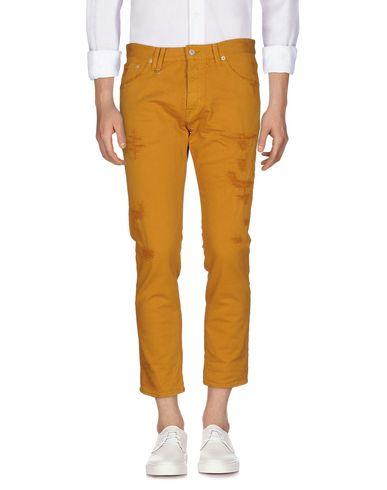 Фото - Джинсовые брюки цвет верблюжий