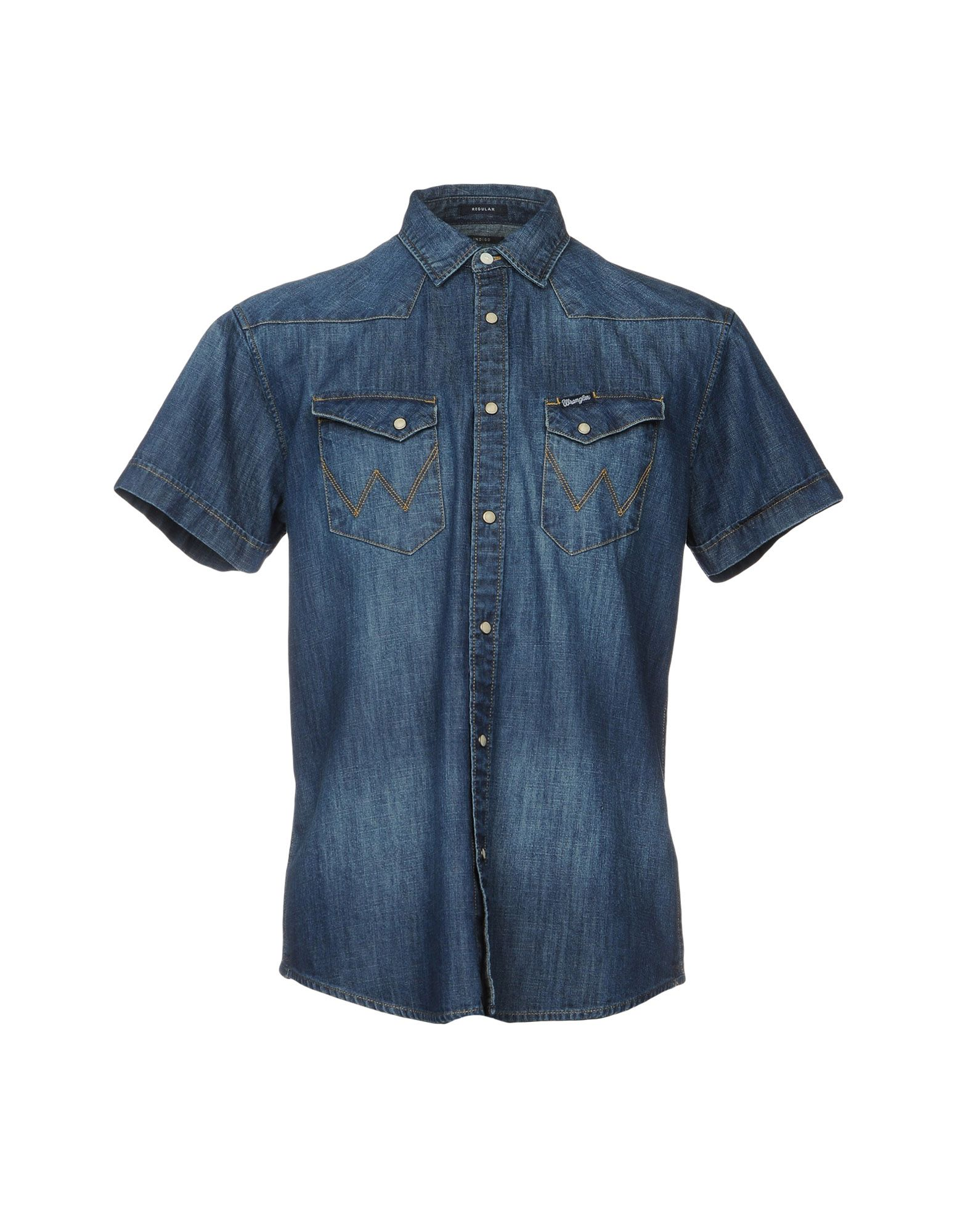 WRANGLER Джинсовая рубашка рубашка джинсовая wrangler wrangler wr224emvhf26