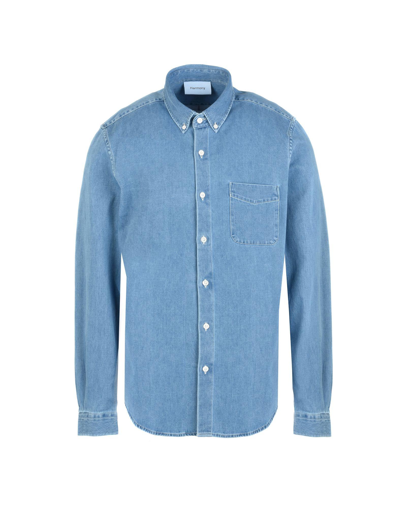 цена HARMONY Paris Джинсовая рубашка онлайн в 2017 году