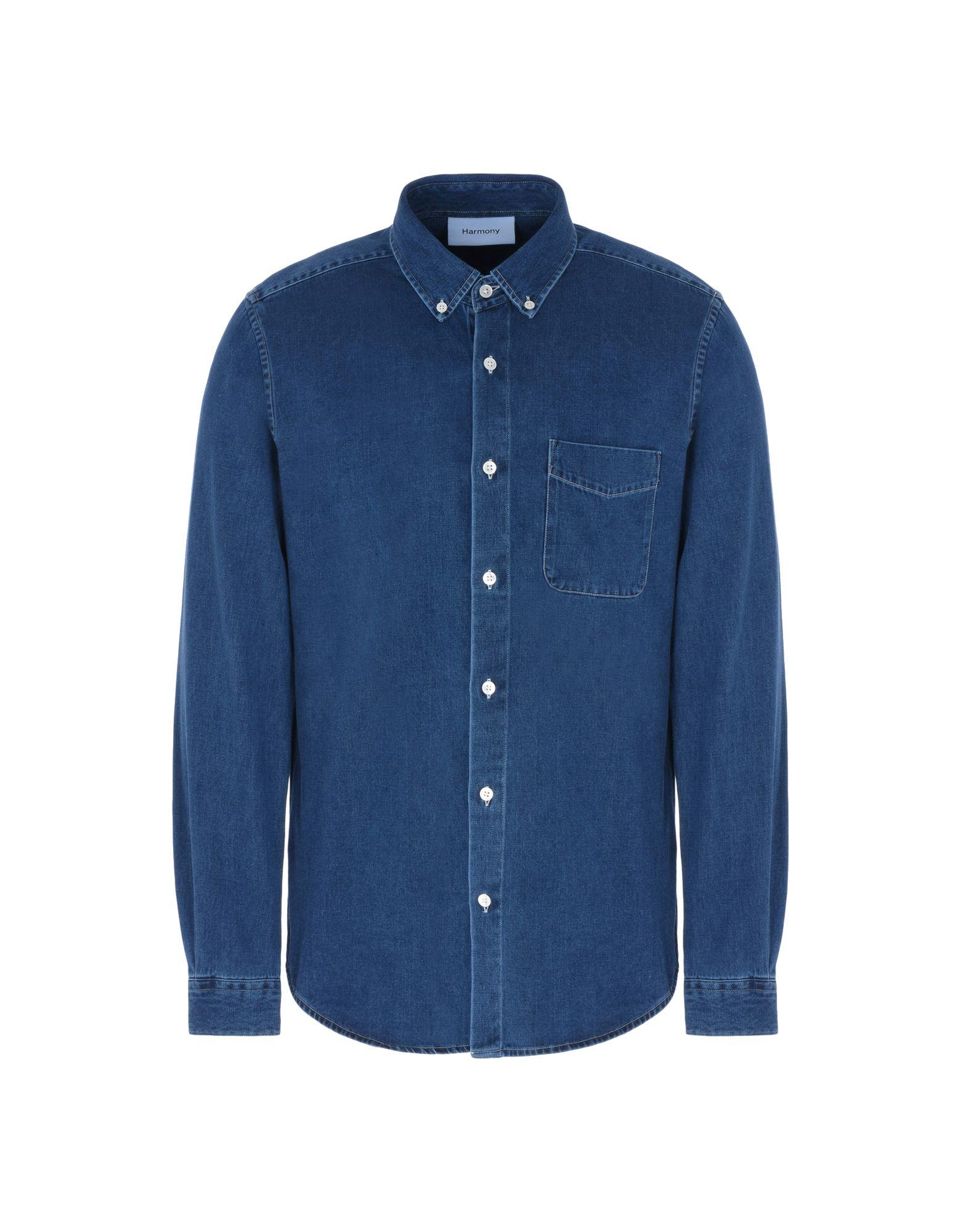 HARMONY Paris Джинсовая рубашка цены