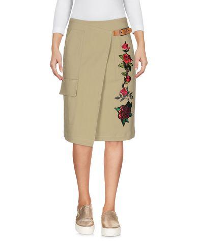 Фото - Джинсовая юбка цвет зеленый-милитари