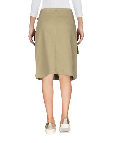 Фото 2 - Джинсовая юбка цвет зеленый-милитари