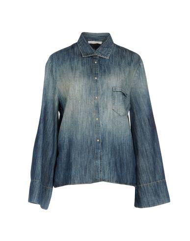 Фото - Джинсовая рубашка от AGLINI синего цвета