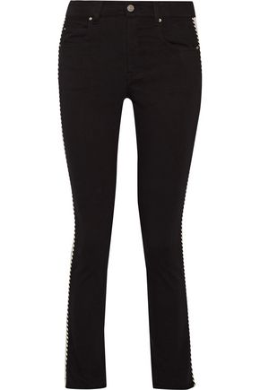 ISABEL MARANT ÉTOILE Haven striped mid-rise straight-leg jeans
