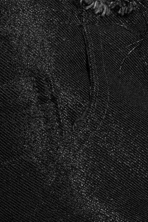 MARQUES ALMEIDA Frayed metallic denim bootcut jeans