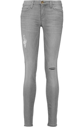 CURRENT/ELLIOTT The Ankle Skinny distressed low-rise jeans