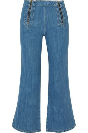 M.I.H JEANS Arrow high-rise cropped flared jeans