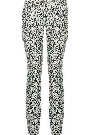 PIERRE BALMAIN Low-rise leopard-print straight-leg jeans