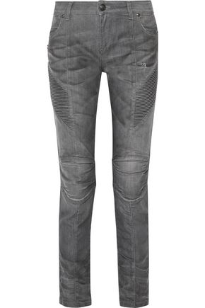 PIERRE BALMAIN Low-rise distressed skinny jeans