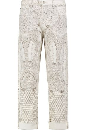 ROBERTO CAVALLI High-rise printed straight-leg pants