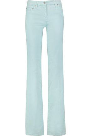 ROBERTO CAVALLI Coated-cotton straight-leg pants