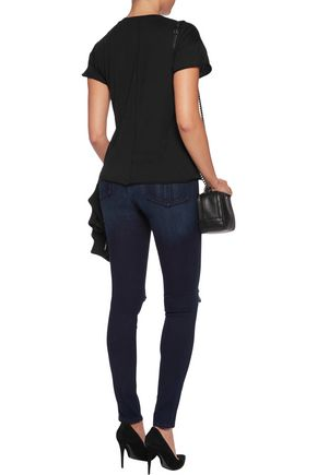 RAG & BONE High-rise distressed skinny jeans