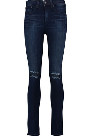 RAG & BONE/JEAN High-rise distressed skinny jeans