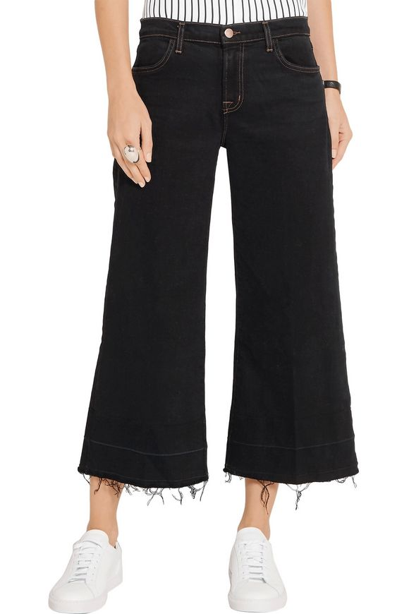 Liza frayed mid-rise culottes | J BRAND | Sale up to 70% off | THE OUTNET