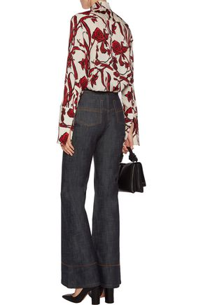 •ELLERY• Phoenix high-rise flared jeans
