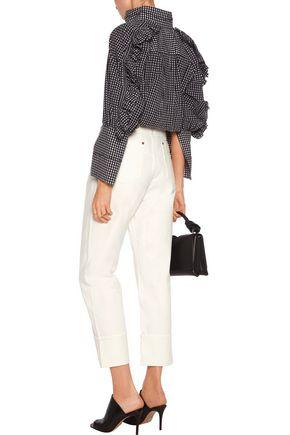 •ELLERY• Cordova high-rise straight-leg jeans