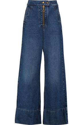 ELLERY Xylophone high-rise wide-leg jeans