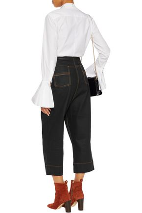 ELLERY Maggie high-rise cropped wide-leg jeans