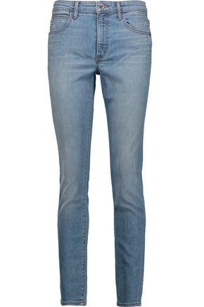 HELMUT LANG Faded mid-rise skinny jeans