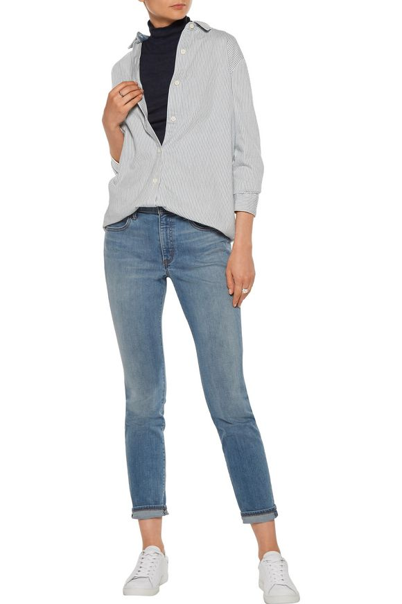Faded mid-rise skinny jeans | HELMUT LANG | Sale up to 70% off | THE OUTNET
