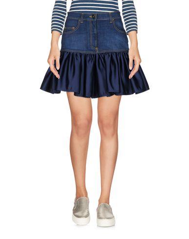 Фото - Джинсовая юбка от ELISABETTA FRANCHI JEANS синего цвета