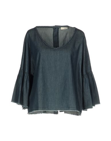 Джинсовая рубашка SUOLI. Цвет: синий