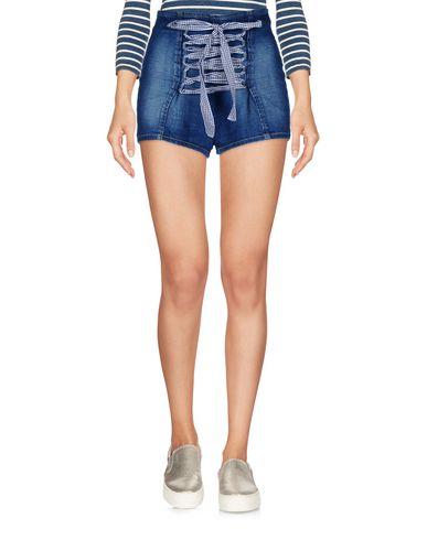 Купить Джинсовые шорты от ELISABETTA FRANCHI JEANS синего цвета
