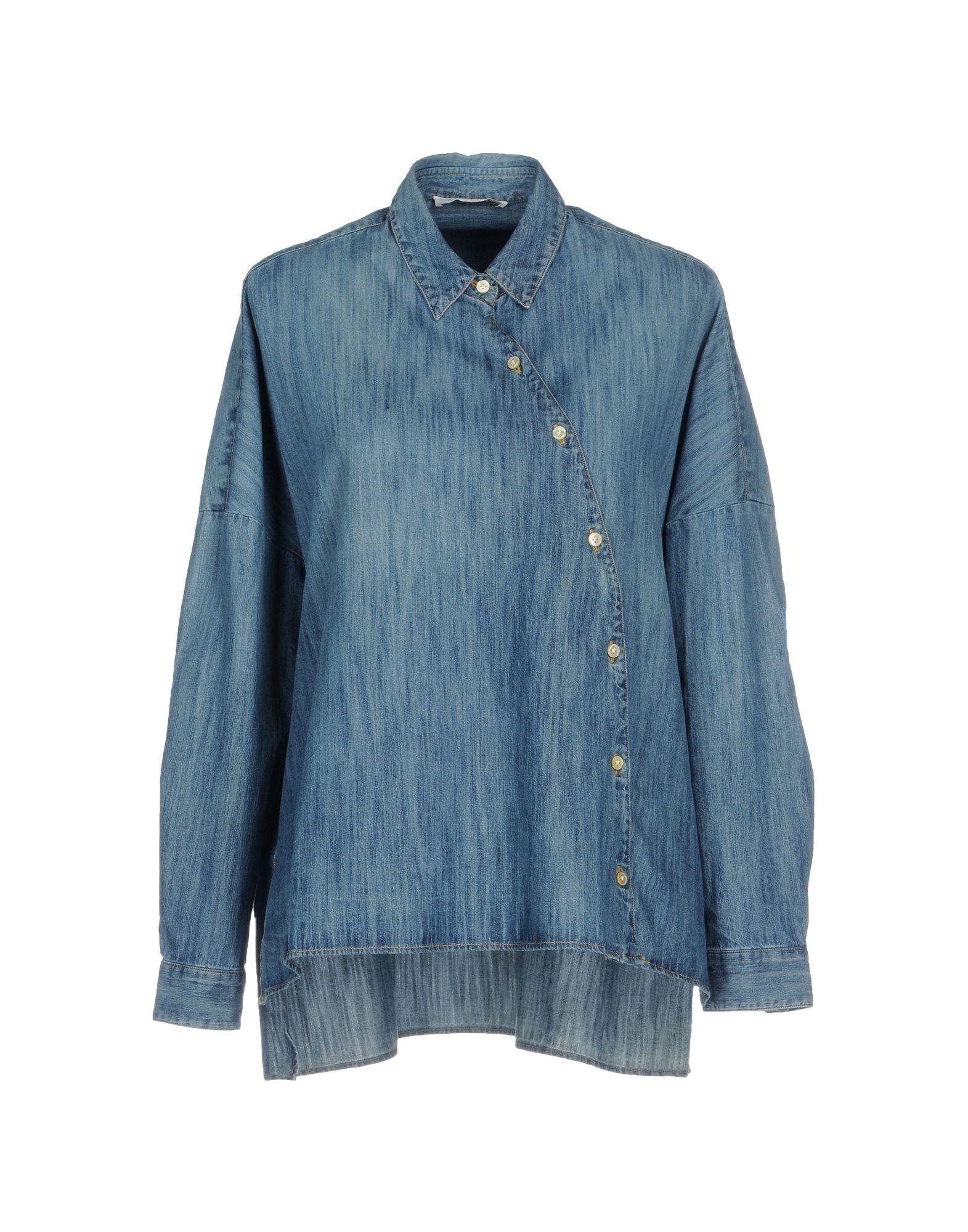 AGLINI Джинсовая рубашка mcr джинсовая рубашка