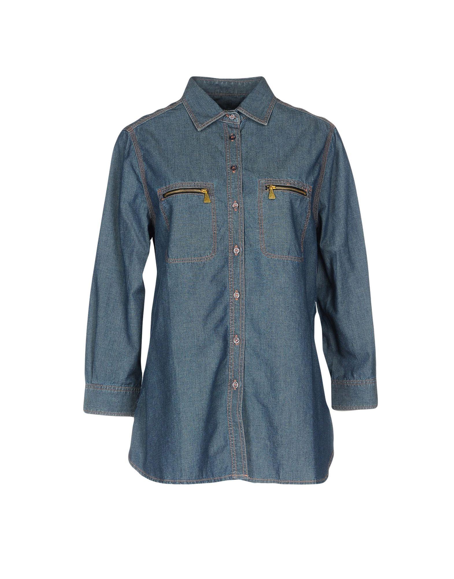 ROŸ ROGER'S Джинсовая рубашка цена 2017