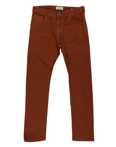 SCOTCH & SHRUNK Jungen Jeanshose Braun Größe 10 94% Baumwolle 4% Polyester 2% Elastan