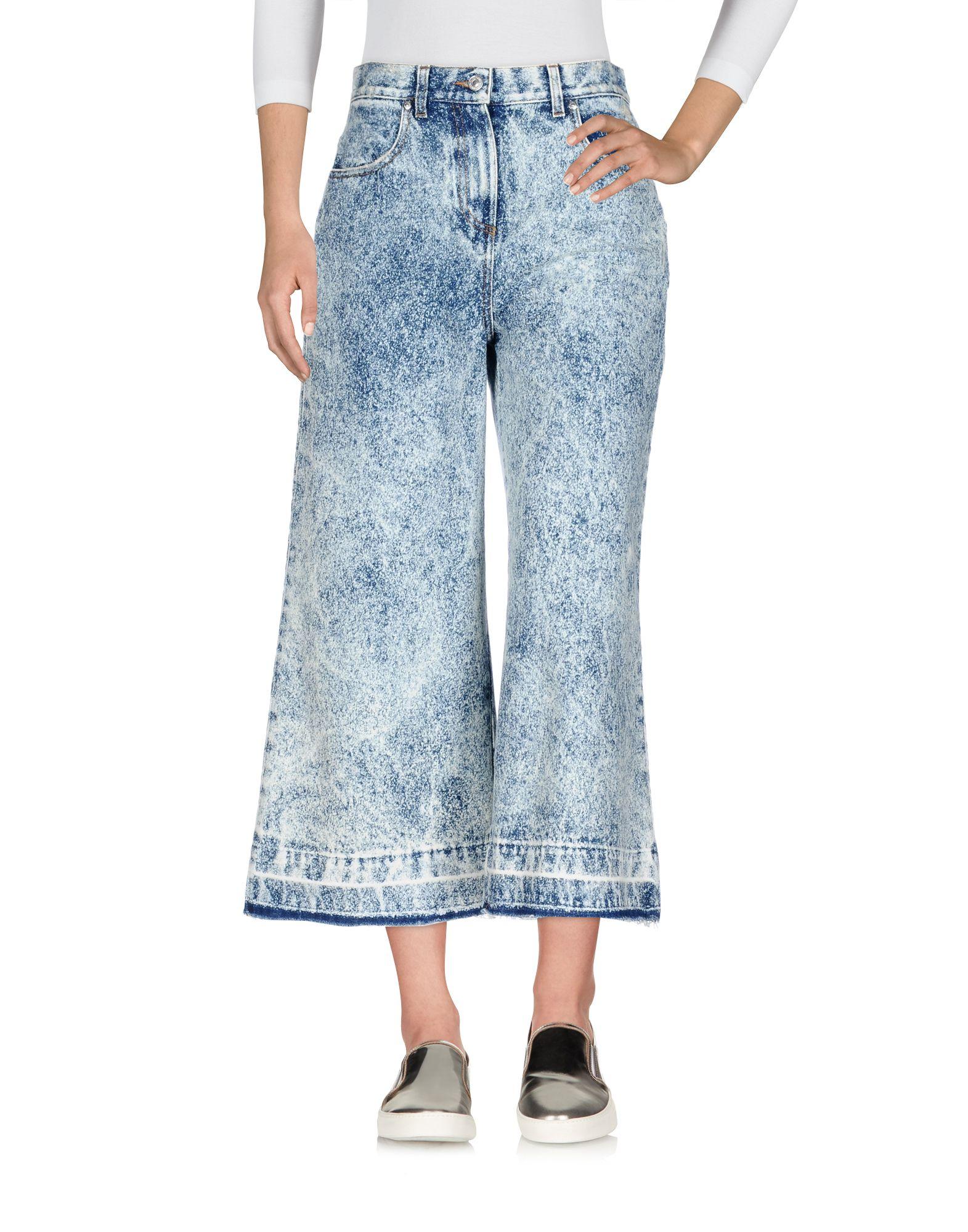 цена MSGM Джинсовые брюки-капри онлайн в 2017 году
