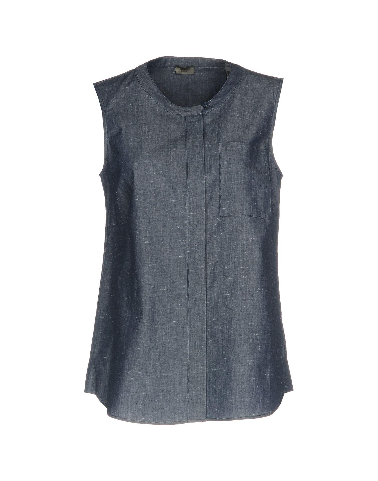 P ONE Джинсовая рубашка джинсовая блузка без рукавов